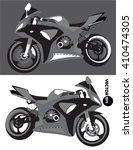 motorcycle  sports body kit ... | Shutterstock .eps vector #410474305