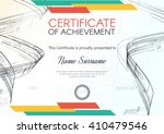 certificate or diploma template.... | Shutterstock .eps vector #410479546