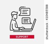 tech support service single... | Shutterstock .eps vector #410485588