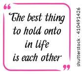 love quote. handwritten... | Shutterstock .eps vector #410491426
