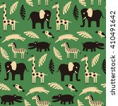 seamless pattern with funny... | Shutterstock .eps vector #410491642
