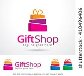 gift shop logo template design... | Shutterstock .eps vector #410496406