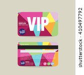 front and back vip member card... | Shutterstock .eps vector #410497792