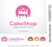 cake shop logo template design... | Shutterstock .eps vector #410500732