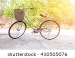 beautiful vintage bicycle in... | Shutterstock . vector #410505076