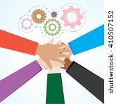teamwork illustration vector 10 | Shutterstock .eps vector #410507152