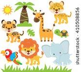 jungle animal vector... | Shutterstock .eps vector #410508856