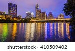 city lights come on in austin ... | Shutterstock . vector #410509402