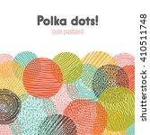 Polka Dot Design Cute Postcard.