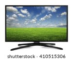 4k monitor isolated on white.... | Shutterstock . vector #410515306