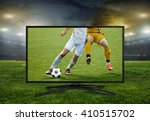 watching smart tv translation... | Shutterstock . vector #410515702