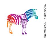 colorful zebra  illustration... | Shutterstock .eps vector #410522296