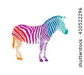 colorful zebra  illustration... | Shutterstock .eps vector #410522296