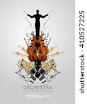 the orchestra vector background.... | Shutterstock .eps vector #410527225