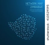 zimbabwe network map. abstract... | Shutterstock .eps vector #410529595