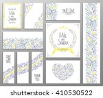 wedding invitation  thank you... | Shutterstock .eps vector #410530522