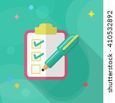 checklist icon  vector flat... | Shutterstock .eps vector #410532892