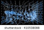 futuristic  abstract wireframe... | Shutterstock . vector #410538088