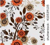 seamless vector floral pattern. ...   Shutterstock .eps vector #410539135
