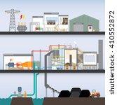 coal power plant in simple... | Shutterstock .eps vector #410552872