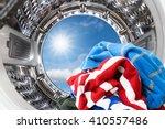 closeup of cloths inside the... | Shutterstock . vector #410557486