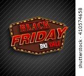 black friday retro light frame   Shutterstock . vector #410574658