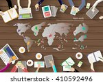 vector workspace for business... | Shutterstock .eps vector #410592496
