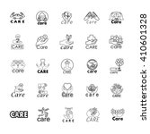care icons set isolated on... | Shutterstock .eps vector #410601328