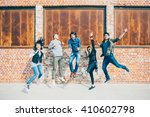 group of young beautiful... | Shutterstock . vector #410602798