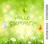 sunny summer background with... | Shutterstock .eps vector #410603686