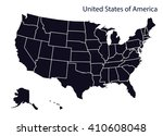 map of u.s.a | Shutterstock .eps vector #410608048