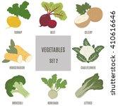 vegetables. a set of vector... | Shutterstock .eps vector #410616646