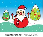 santa christmas greeting card | Shutterstock .eps vector #41061721
