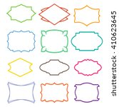 vector frames set | Shutterstock .eps vector #410623645