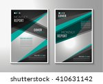 brochure template  flyer design ... | Shutterstock .eps vector #410631142