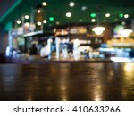 bar table top counter with... | Shutterstock . vector #410633266