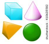 geometric shapes isolated on... | Shutterstock .eps vector #410635582