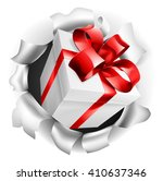 an illustration of a gift or... | Shutterstock . vector #410637346