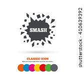 Cracked Hole Icon. Smash Or...