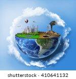Eco Concept Half Sphere Earth - Fine Art prints