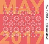 calendar for 2017. may. week...