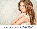 beautiful tender young woman... | Shutterstock . vector #410649166