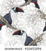 vector sketch of a parrot with... | Shutterstock .eps vector #410651896