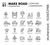 modern road building and bridge ... | Shutterstock .eps vector #410652988