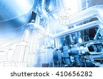 wireframe design of pipelines... | Shutterstock . vector #410656282