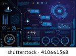 hud technology innovation... | Shutterstock .eps vector #410661568