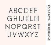 geometric font. line design.... | Shutterstock .eps vector #410664736