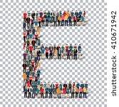 people letter alphabet 3d   Shutterstock .eps vector #410671942