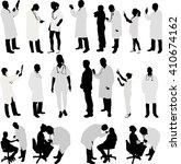 doctor and patient big... | Shutterstock .eps vector #410674162