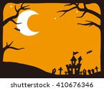 vector illustration of a scary... | Shutterstock .eps vector #410676346